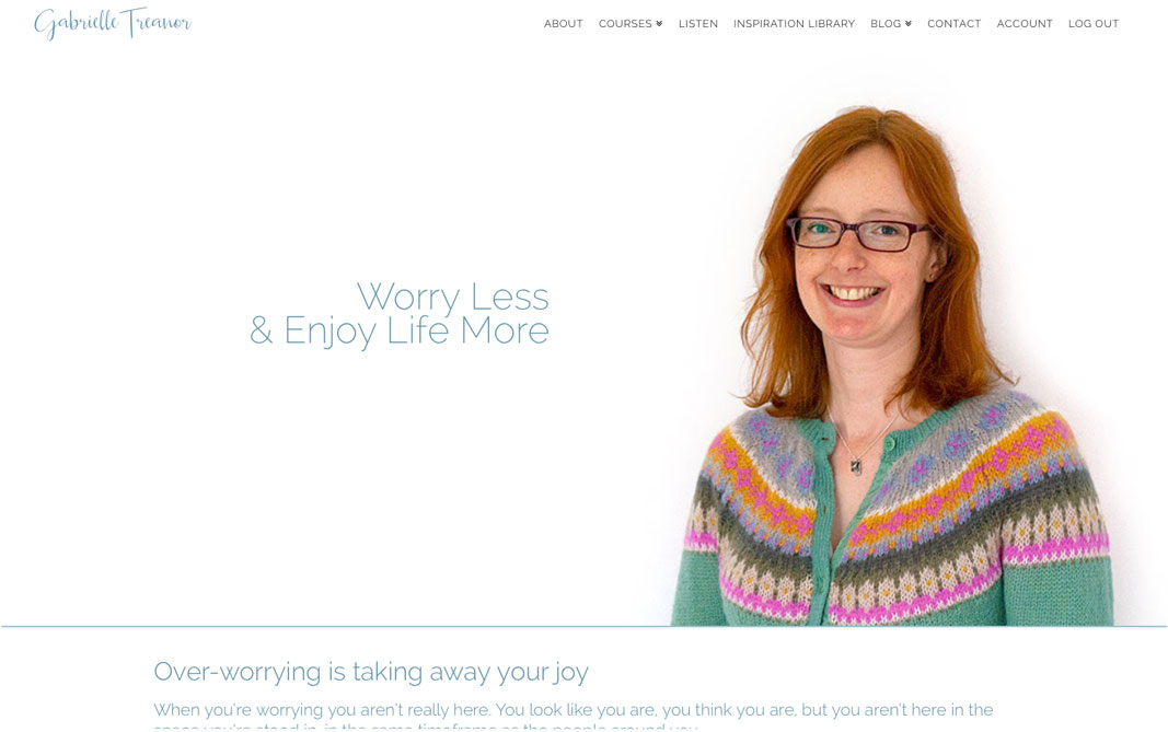 Link to a website I designed for a self-help teacher called Gabrielle Treanor