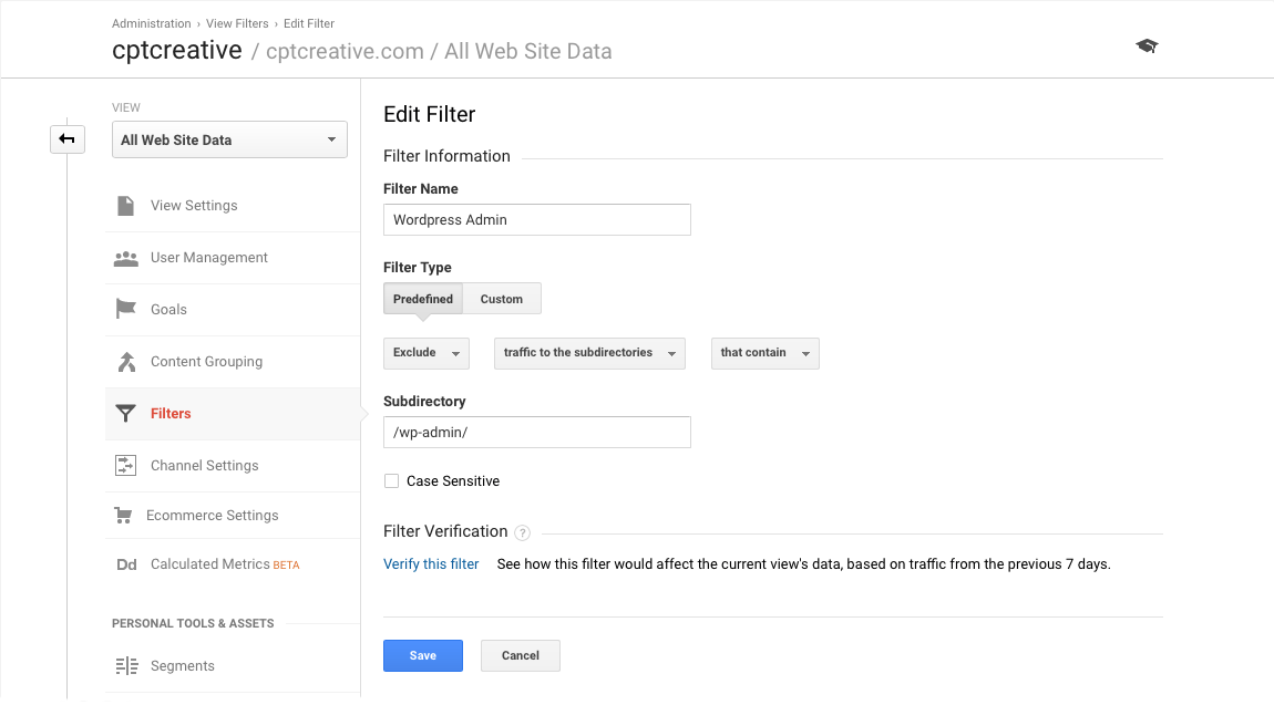 Google Analytics Filter 3