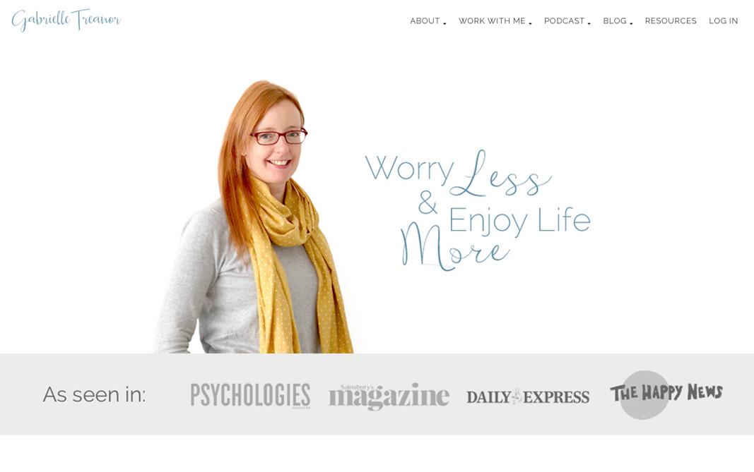 Link to a website I designed for a self-help teacher called Gabrielle Treanor